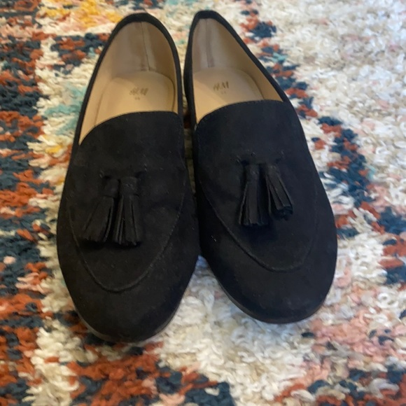 H&M black loafers
